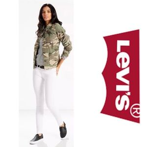 Levi's 711 White Studded Skinny Ankle Jeans 2/26
